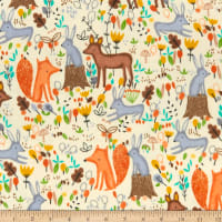 Comfy (R) Flannel Print Woodland Animal Toss