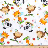 Comfy (R) Flannel Print Animal Toss