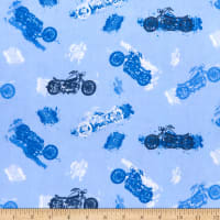 Comfy (R) Flannel Print Motorcycles