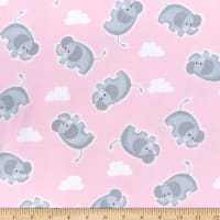 Comfy (R) Flannel Print Elephants & Clouds