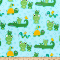 Comfy (R) Flannel Print Alligators, Frogs, Snakes, Birds & Turtles