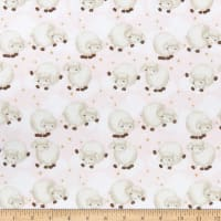 Comfy Flannel Print Sleepy Sheep Pink