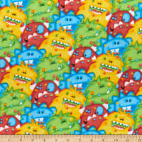 Comfy Flannel Print Packed Monsters Multi