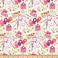 QT Fabrics Garden Journal Garden Journal White