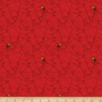 QT Fabrics Steampunk Halloween Spiderweb Red
