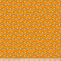 QT Fabrics Steampunk Halloween Skulls Orange