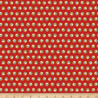 QT Fabrics Steampunk Halloween Skulls Red