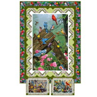 QT Fabrics Songbirds Quilt and Placemats Kit
