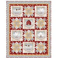 "QT Fabrics Digital Farm Life 46"" x 56"" Quilt Kit"