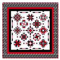 "QT Fabrics Digital Opposites Attract 87"" x 87"" Quilt Kit"