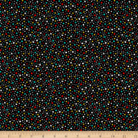 QT Fabrics Digital Parrot Party Dots Black