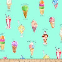 QT Fabrics Digital What's The Scoop Ice Cream Mint