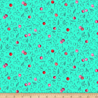QT Fabrics Digital What's The Scoop Cherries Mint
