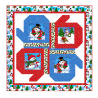 "QT Fabrics Digital Frosty Friends 46"" x 46"" Quilt Kit"