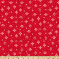 QT Fabrics Back Home For The Holidays Snowflakes Red