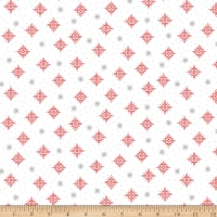 QT Fabrics Back Home For The Holidays Snowflakes White