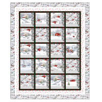 "QT Fabrics Digital Back Home For The Holidays 57"" x 68"" Quilt Kit"