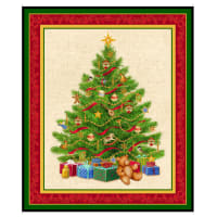 "QT Fabrics Digital O Tannenbaum Christmas Tree 36"" Panel Green"