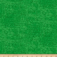 QT Fabrics Digital O Tannenbaum Holiday Words Green