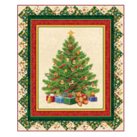 "QT Fabrics Digital O Tannenbaum 44"" x 52"" Quilt Wallhanging Kit"