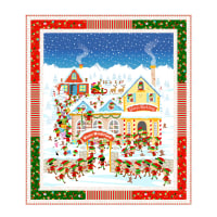 "QT Fabrics Digital Santa's Workshop 41"" x 47"" Panel Quilt Kit"