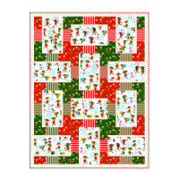 "QT Fabrics Digital Santa's Workshop 33"" x 44"" Block Quilt Kit"