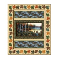 "QT Fabrics Moose Country 69"" x 81"" Moose Quilt Kit"
