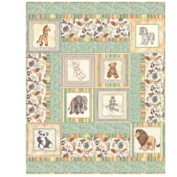 "QT Fabrics Digital Toyland 26"" x 44"" Panel Quilt Kit"