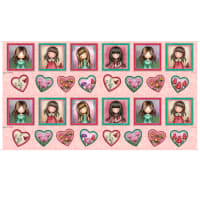 """QT Fabrics Truly Gorjuss Small Picture Patches 24"""" Panel Pink"""