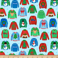 Ink & Arrow Digital Sweater Weather Ugly Christmas Sweaters Blue