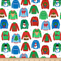 Ink & Arrow Digital Sweater Weather Ugly Christmas Sweaters White