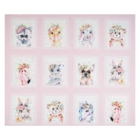 P&B Textiles Little Darlings Animal Squares Pink