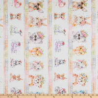 P&B Textiles Little Darlings Animal Stripe Multi