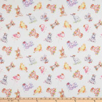 P&B Textiles Little Darlings Animal Toss Multi