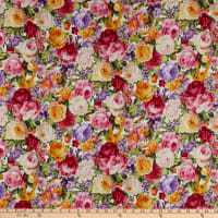 P&B Textiles Ayana All Over Roses Multi