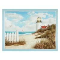 "P&B Textiles By The Peaceful Shore Light House 38.25"" Panel Multi"