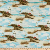 P&B Textiles By The Peaceful Shore Scenic Multi