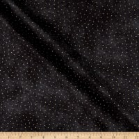P&B Textiles Sparkle Suede Metallic Dots Black