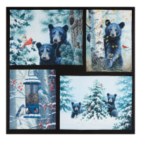 "P&B Textiles Digital Beary Best Friends Bears 43"" Panel Multi"