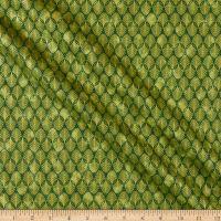P&B Textiles Rejoice Metallic Geometric Green