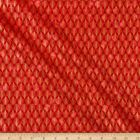P&B Textiles Rejoice Metallic Geometric Red