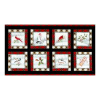 "P&B Textiles Winter Wonderland Metallic Winter Square 24"" Panel Multi"