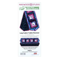 Maywood Studio Batik Pod Coastal Getaway Log Cabin Table Runner Kit Multi