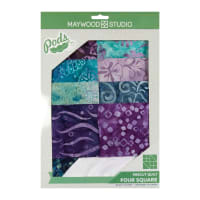 Maywood Studio Batiks Pod Coastal Getaway Four Square Quilt Kit Multi