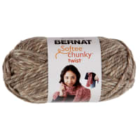 Bernat Softee Chunky Twist Yarn (80g/2.8oz), Taupe Twist