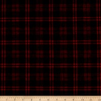 Plaid Flannel PLD-14-8 Black/Red
