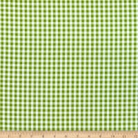 Timeless Treasures Splash Of Lemon Small Gingham Green