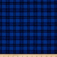 Plaid Flannel PLD-14-8 Royal/Black