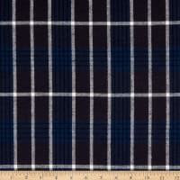 Plaid Flannel PLD-216 Navy/Charcoal