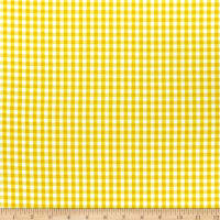 Timeless Treasures Splash Of Lemon Small Gingham Yellow